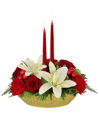 Christmas Flowers - Bright Holiday Wishes Centerpiece by christmas flowers