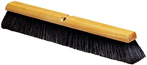 Carlisle 4503203 Fine Floor Sweep, Blended Horsehair Bristles, 36'' Block Size, 3'' Bristle Width, Black (Case of 6)
