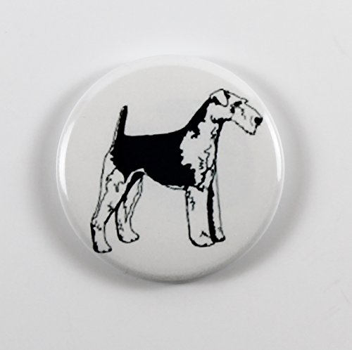 Airedale Terrier (8) Pin Back Button