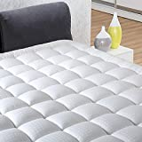 """INGALIK Full Size Mattress Pad Cover Pillow Top Deep Pocket Fits Up to 8""""-21"""" Fitted Mattress Topper Snow Down Alternative Mattress Cover Cooling Bed Topper"""
