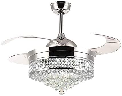 42 Inch Dimmable Chandelier Crystal Ceiling Fan