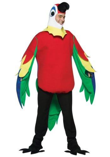 Pippi Longstocking Costumes (Rasta Imposta Lightweight Parrot Costume, Multi-Colored, One)