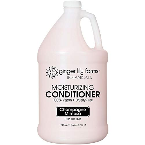 Ginger Lily Farms Botanicals Champagne Mimosa Moisturizing Conditioner, 100% Vegan, Paraben, Sulfate, Phosphate, Gluten & Cruelty-Free, 1 gallon