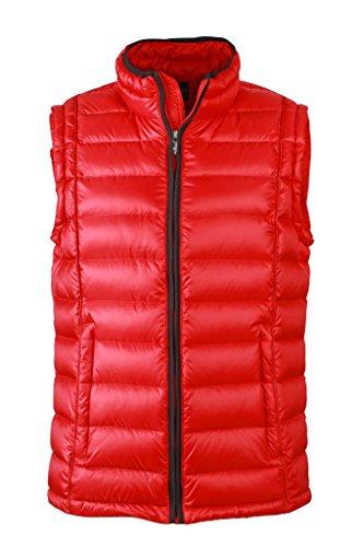 Herren Daunen Bodywarmer | Herren Weste mit Daunenfüllung | JN1080, Größe:3XL;Farbe:red/black