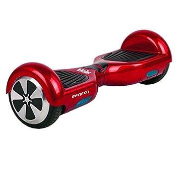 Patin ELECTRICO INFINITON (Patinete, 2 Motores, Velocidad máxima de 10Km/h, Ruedas 6.5″) (Rojo)