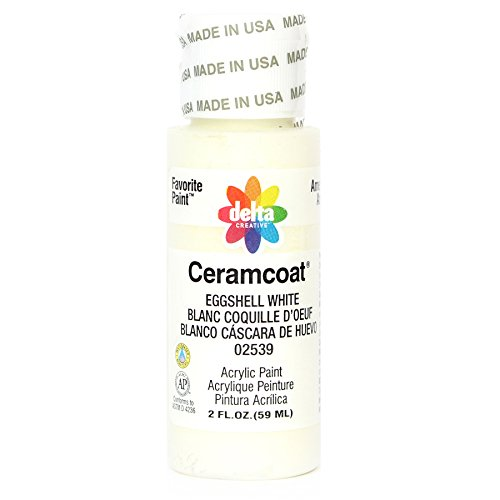 Delta Creative Ceramcoat Acrylic Paint in Assorted Colors (2 oz), 2539, Eggshell ()