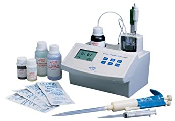 Hanna Instruments HI 84102 Mini Titrator for Total Titratable Acidity in Wine, 110V Power, 7.00/8.20 pH, 0 to 100 Degree C