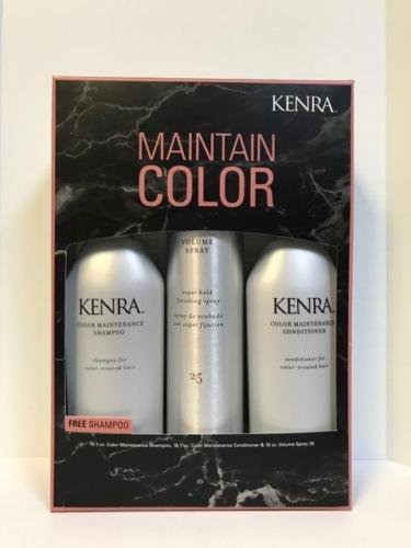 KENRA MAINTAIN COLOR KIT: SHAMPOO, CONDITIONER, & VOLUME SPRAY HOLIDAY TRIO by Kenra