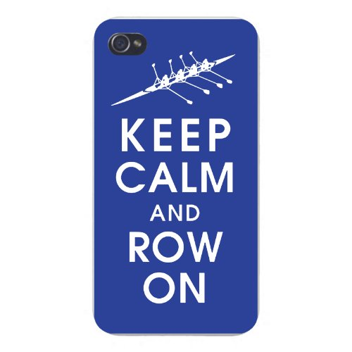 Apple Iphone Custom Case 5 5s Snap on - Keep Calm and Row On w/ Rowing Boat Team Racing by Hat Shark