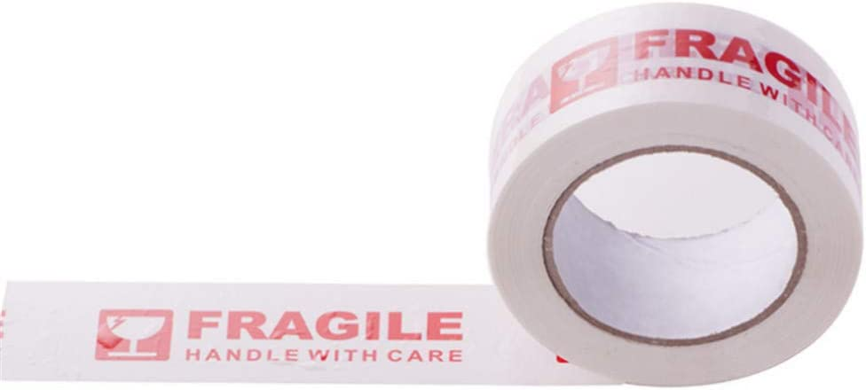 Warning Fragile Handle with Care Printed Packing Box Sealing Tape Fully 3 Rolls 110 yds//Roll
