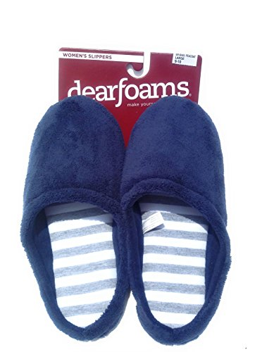 Dearfoams Womens Peacoat Scuff Slippers - (Large 9-10) U74RWt