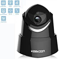 1080P HD WiFi Wireless IP Security Camera, Dome Camera Home Security Monitor System, Infrared Motion Detection, Pan, Tilt, Zoom, 2-Way Audio, Night Vision(Black)