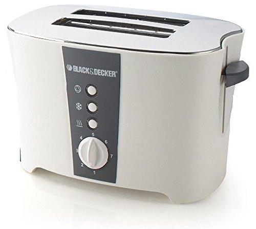 BLACK+DECKER ET122 800-Watt 2-Slice Cool Touch Toaster, 220V (Not for USA - European Cord), Small, White