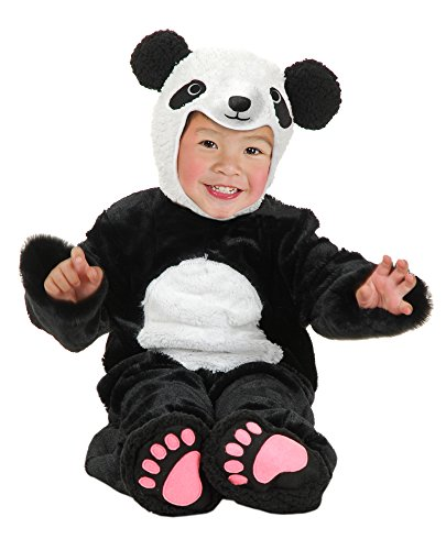 [Charades Baby's Little Panda Costume, As Shown, Infant] (Newborn Panda Bear Costume)