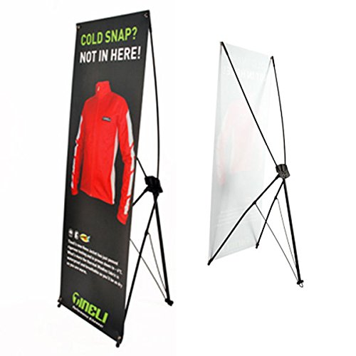 Displayfactory USA 24''*63'' Adjustable X Banner Stand Includes Bag for Tradeshow Indoor and Outdoor Display(1pc ) by Displayfactory USA