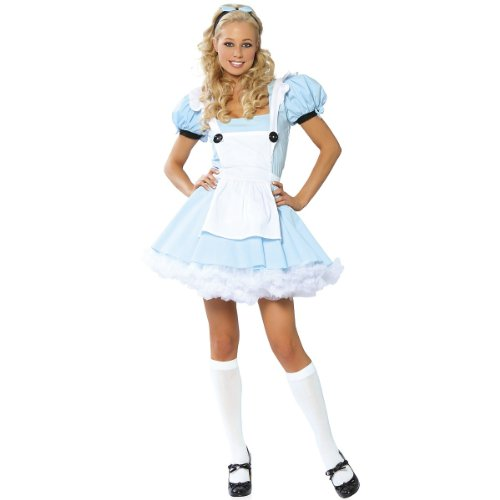 Alice in Wonderland Costume - Medium/Large - Dress Size 6-10 (Alice In Wonderland Tights)