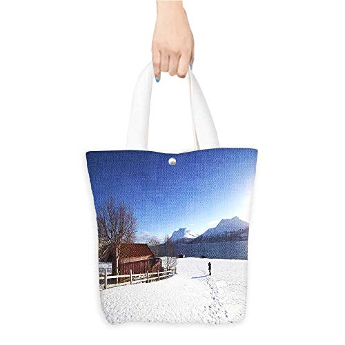 Shopping Tote Bag The snow under the blue sky(W15.75 x L17.71 Inch) (Partridge Bag Shopping Family)