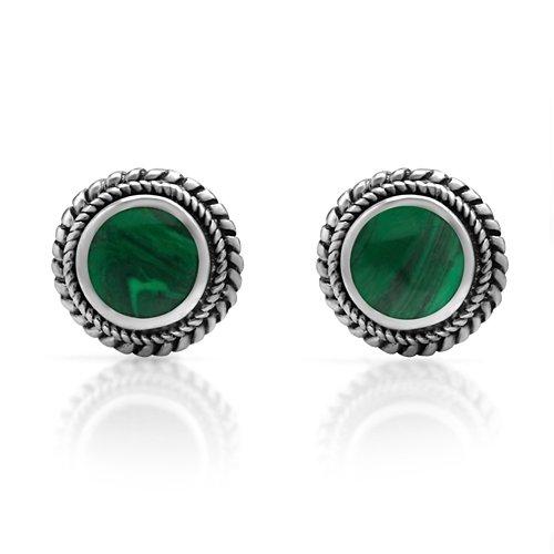 Sterling Inspired Gemstone Braided Earrings