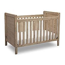 Delta Children Chloe 4-in-1 Convertible Crib, Rustic Whitewash