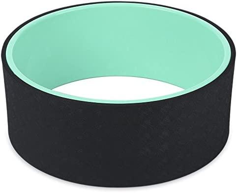 qubabobo Yoga wheel- más fuerte más cómodo Dharma Yoga Prop círculo para estirar/apoyo para poses de Yoga y backbends, puente Pose (13