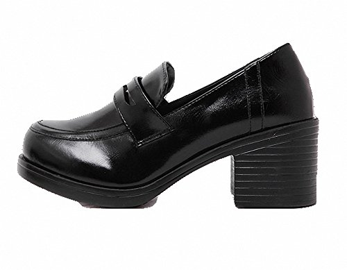 Heel Uniform Womens and Costume Black Daily Students Dress Lolita Girls Mid mewow For Shoes q41wRIYY