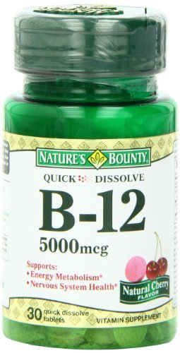 Nature's Bounty Sublingual Vitamin B-12, 5000mcg, 30 Tablets (Pack of 3) by Nature's Bounty (Natures Bounty 30 Tablets)