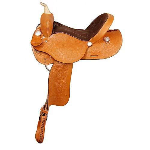 (American Saddlery Fast Turn Barrel Saddle 14in)
