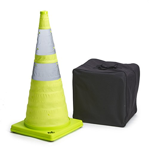 Mutual Industries 17712-5-28 Collapsible Reflective Traffic Cone with Inside Light, 28