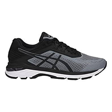 ASICS - Mens Gt-2000 6 (2E) Shoes, 7 2E US, Stone Grey/Black/White