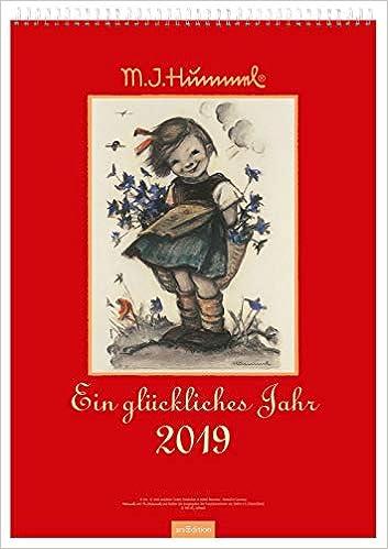 Ein Gluckliches Jahr 2019 Hummel Wandkalender Amazon Fr
