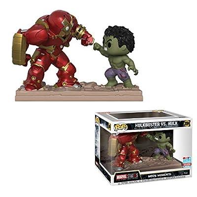 POP! Funko Marvel Studios: The First Ten Years - Hulkbuster vs Hulk Movie Moments Vinyl Figure 2-Pack: Toys & Games