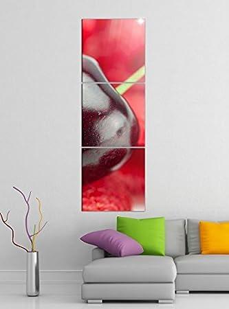 Amazon De Leinwandbild 3tlg Kirsche Rot Beere Beeren Himbeeren