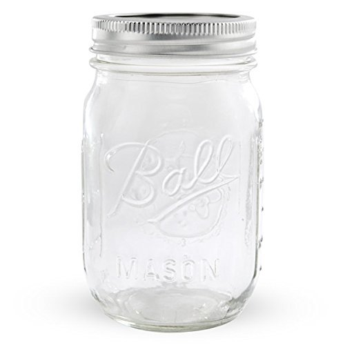 Ball Regular Mouth Pint 16-oz Mason Jars with Lid and Band (1-Pack) ()