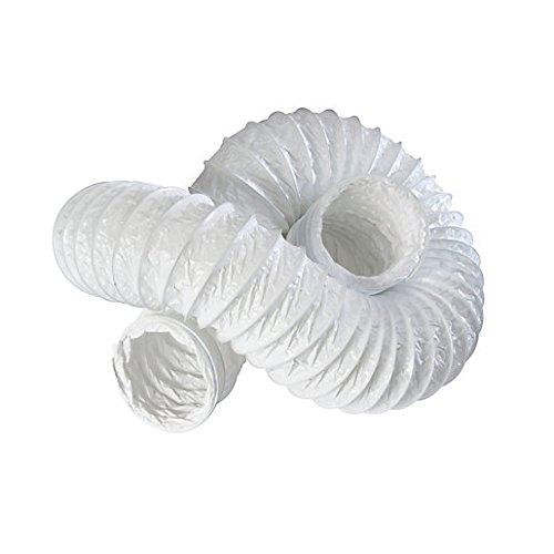 Bianco flessibile ventola canalizzazione –  6 m di lunghezza tubo aspiratore –  15, 2 cm diametro 150 mm 2cm diametro 150mm ACEL