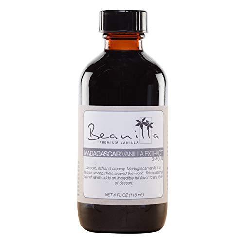 Tahitian Vanilla Extract Fold - Madagascar Vanilla Extract (Double-Fold) - 4 fl oz