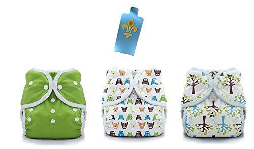 Thirsties Duo Wrap Snaps Diaper Covers 3 pack Combo: Hoot, Blackbird, MeadowSz (Thirsties Duo Wrap Snap)