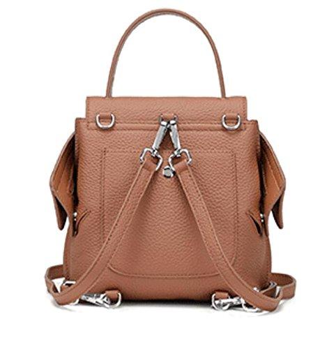 Leather Backpack Backpack Casual TINGTING 3 Bag Handbag Bag Genuine Shoulder Lady p8ypWwtqF