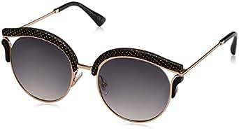 Jimmy Choo Women's Oval Lash/S 9C Sunglasses, Gdbk Mtlzed, 53
