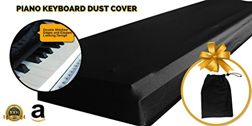 piano keyboard dust cover keys made nylon spandex comes comp