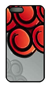 Case For Sam Sung Galaxy S5 Cover - Customized Unique Design Red Curls Vector Art New Fashion PC Black Hard