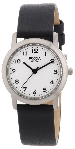 Boccia B3170-01 Ladies Titanium White Dial Watch