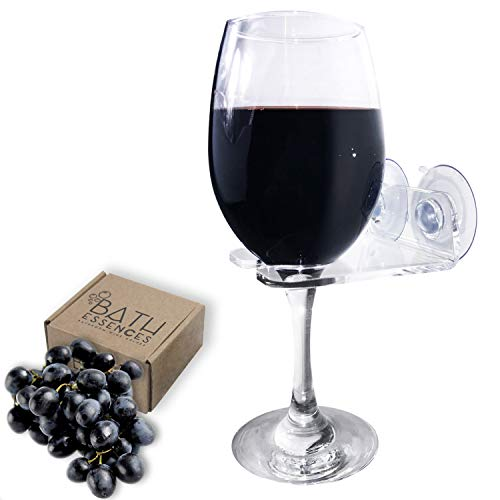 Bathtub Wine Glass Holder by Bath Essences - Pamper Yourself Now!