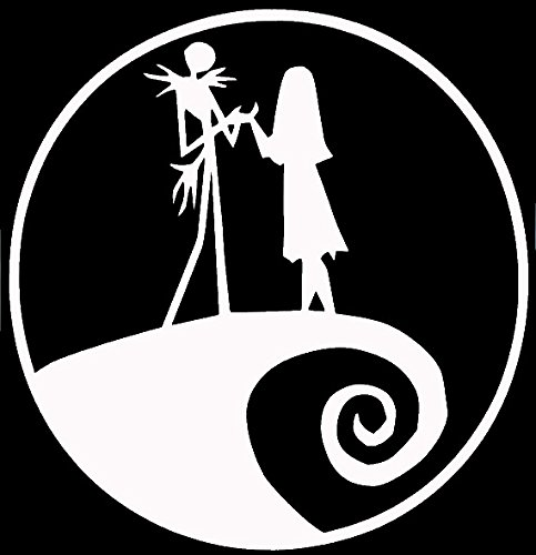 Jack and Sally Nightmare Before Christmas White Decal Vinyl