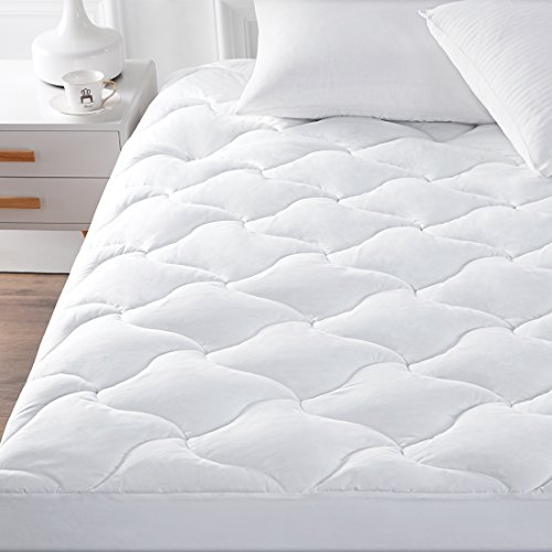 """(YOUMAKO Full Size Mattress Pad Cover Hypoallergenic Quilted Pillowtop 8-21""""Deep Pocket Topper)"""
