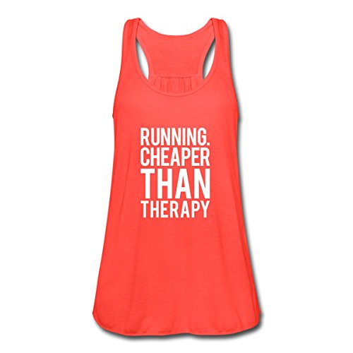 Spreadshirt Women's Running - Therapy Tank Top, coral, M