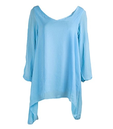 Women Sleeve Out Irregular Baggy Blue Coolred Cut Light Sun Shoulder Pullover Hem Dress Long dIxTxBa
