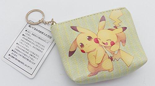 Zipper Vinyl Coin (Pokemon Pikachu Vinyl Multi Purpose Zipper Change Coin Purse Pouch #3)