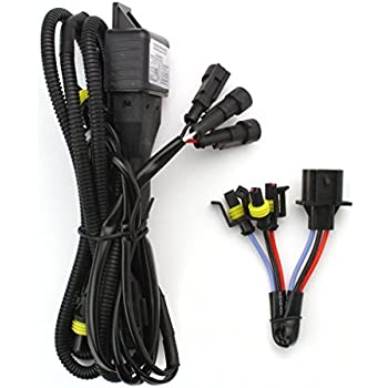 amazon com opt7 hid relay harness anti flicker power wiring for h13 9008 bi xenon high low hid xenon conversion replacement wiring harness configurable for h13 or 9008 hid kits