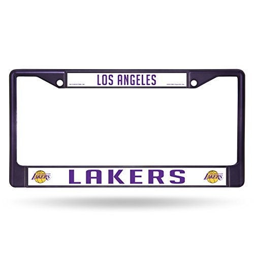 lakers license plate frame chrome - 9