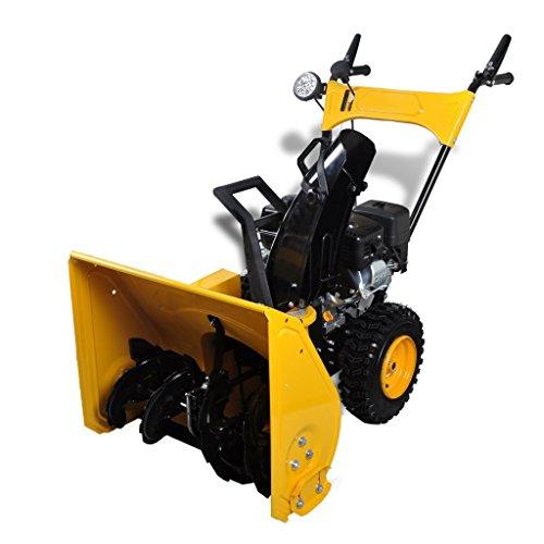 Anself 6,5 PS Benzin Motor Schneefräse Schneeräumer mit 60 cm Arbeitsbreite Gelb